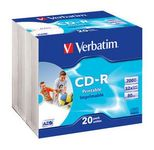 Verbatim CD-R 80 52x PRINT. slim 20pc/BAL