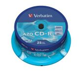Verbatim CD-R 80 52x CRYST. spindl 25pck/BAL