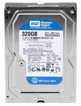WD 320GB, 16MB, SATA III, 7200rp (WD3200AAKX)