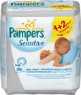 Pampers Ubrousky Sensitive 6pack 6x56ks