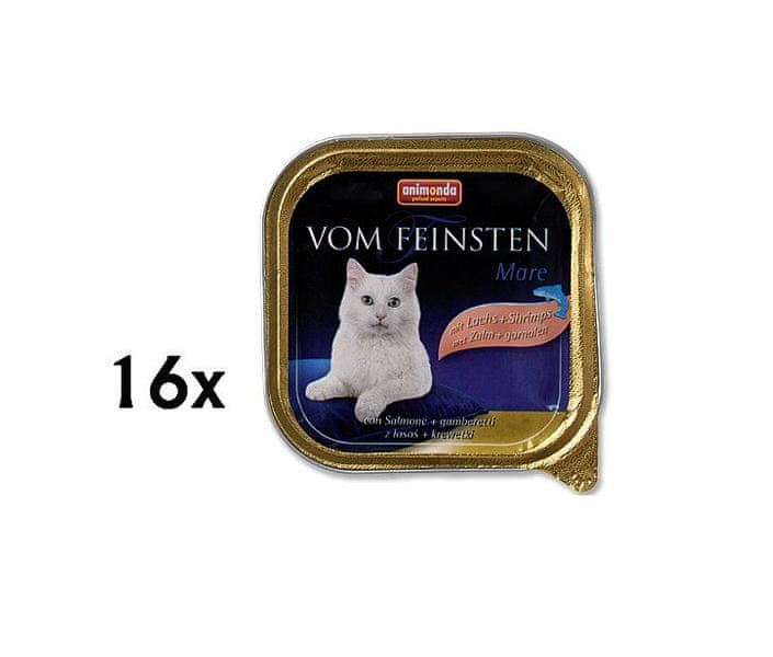 Animonda Vom Feinstein cat losos + krevet 16 x 100
