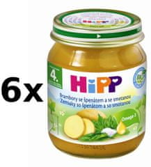 HiPP BIO Jemný špenát s brambory - 6 x 125g