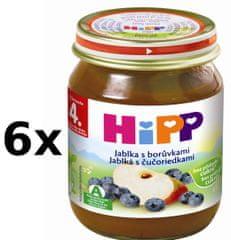 HiPP Jablka s borůvkami - 6 x 125g
