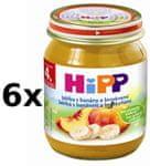 HiPP Jablka s banány a broskvemi - 6 x 125g