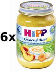 HiPP Broskvovo-meruňkový s tvarohem - 6x160g