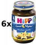 HiPP BIO Kaše na dobrou noc krupicová s příchutí vanilky - 6x190g