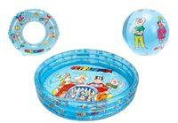 Mikro hračky Zestaw Basen + piłka+ koło - II. jakość