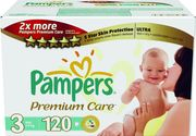 Pampers PremiumCare 3 Midi - 120 ks