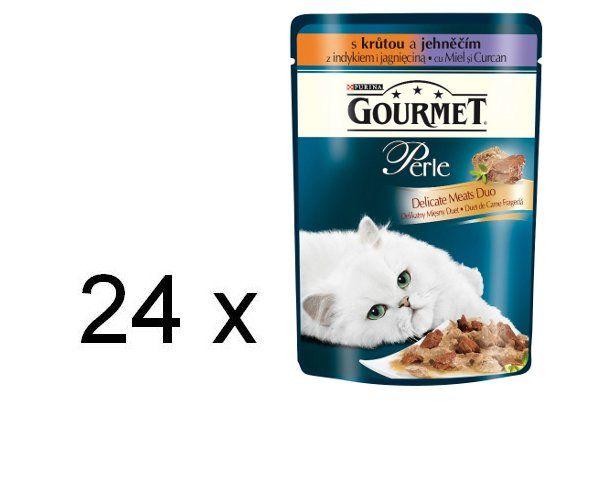 Gourmet Perle Duo s krůtou a jehněčím 24 x 85g