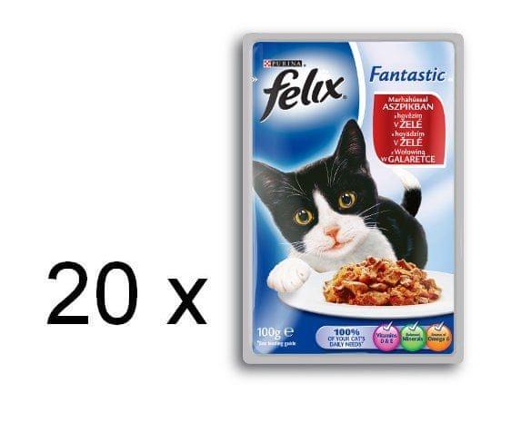 Felix FELIX Fantastic - kapsička s hovězím v želé