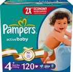 Pampers Active Baby 4+ MaxiPlus - 120ks