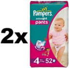 Pampers ActivePants Girl 4 Maxi - 2 x 52 szt.