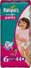 Pampers ActivePants Girl 6 ExtraLarge - 44ks