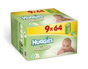 Huggies Vlhčené ubrousky Natural Care Nine Pack 9 x 64ks