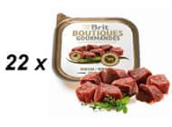BRIT Boutiques Gourmandes Venison Small Breed Meat  22 x 150g