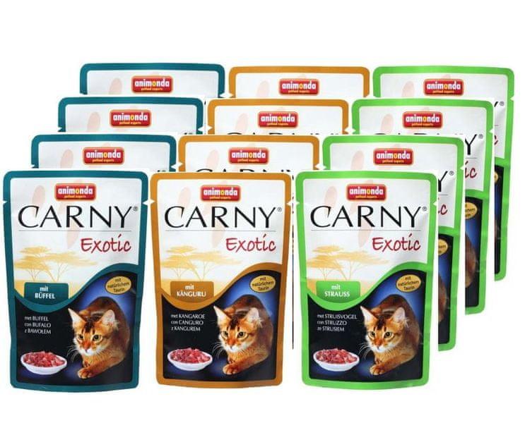 Animonda kapsičky CARNY EXOTIC Mix 12 x 85g