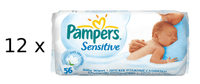 Pampers Ubrousky Sensitive 12 x 56ks