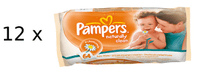 Pampers Ubrousky Naturally Clean 12 x 64ks