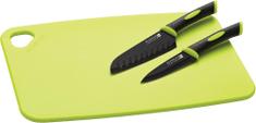 SCANPAN Set 3ks, plastové prkénko, dva nože