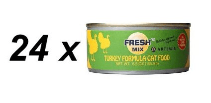 Artemis Fresh Mix Turkey Cat Food 24 x 156g