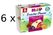 HiPP BIO Jablka s jahodami a borůvkami - 6x(4x100g)