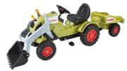 BIG Traktor na pedala Claas Nakladač + prikolica