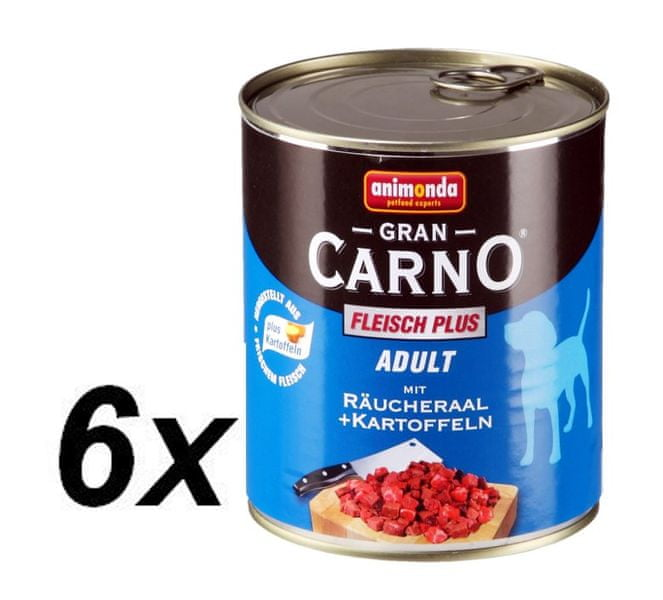 Animonda Grancarmo Adult -uzený úhoř+brambory 6 x