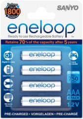 Sanyo baterije Eneloop 4 x AAA 800 mAh