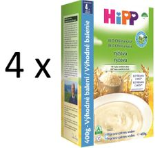 HiPP BIO obilná kaše rýžová 4 × 400g