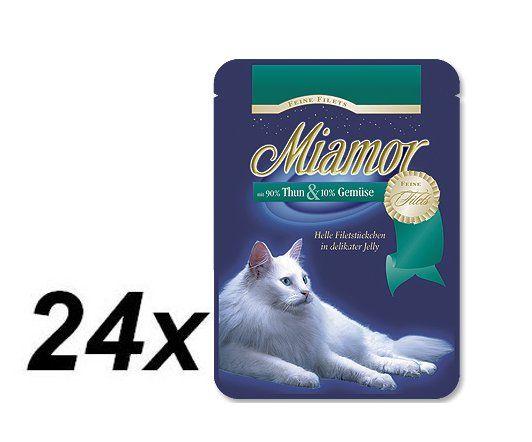 Finnern Kapsička Miamor Filet tuňák + zelenina 24
