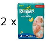 Pampers Active Baby Giantpack 4 Maxi - 164 szt