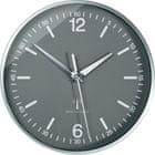 Eurochron Analógové nástenné DCF hodiny 19.5 cm, hliník