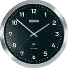 Eurochron Hliníkové nástenné DCF hodiny EFWU 2601, 38 cm, čierna