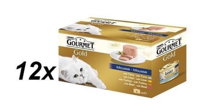 Gourmet Gold paštika multibalení 12 x ( 4x85g )