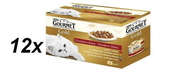 Gourmet Gold kousky masa ve šťávě multibalení 12 x
