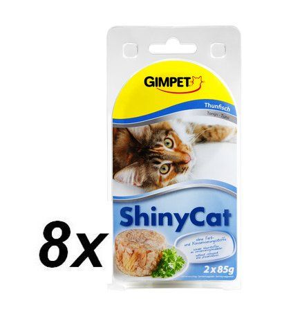 Gimpet SHINY CAT tuňák 8 x ( 2 x 70g )