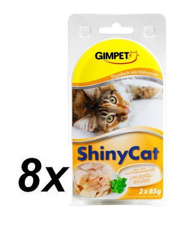 Gimpet SHINY CAT tuňák + kuře 8 x ( 2 x 70g )
