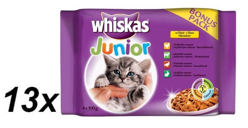 Whiskas JUNIOR ve šťávě 13 x ( 4 x 100g )