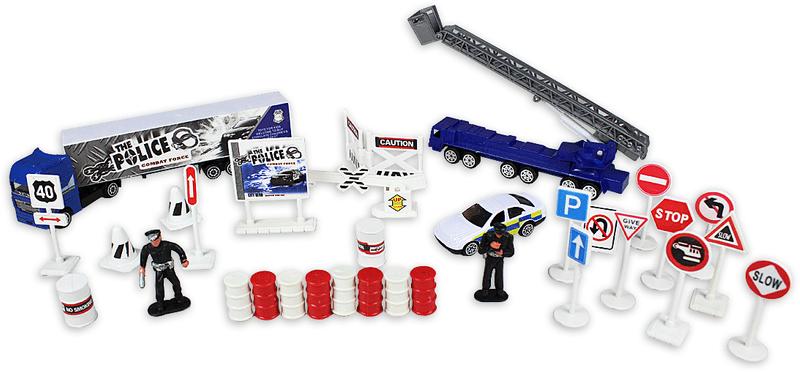 GearBox Policie 1:87, 32 součástí, hrací set