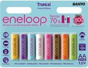 Sanyo Baterije Eneloop Tropical AA, 8 kom