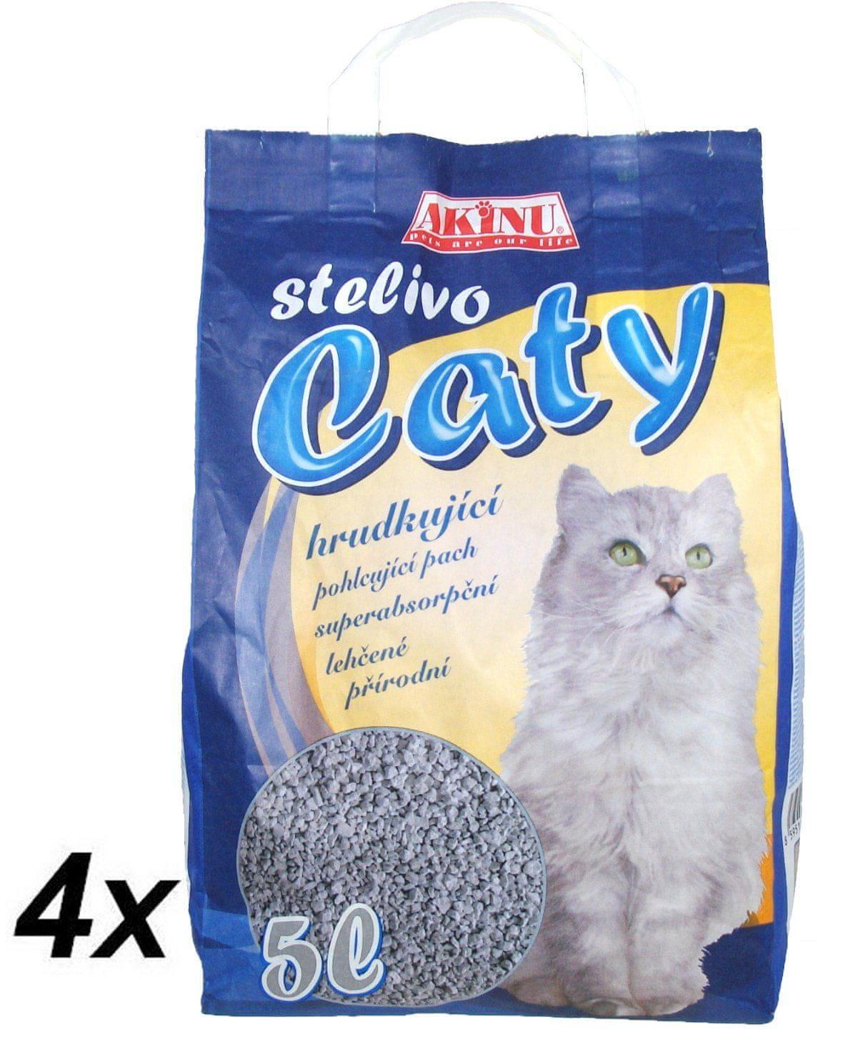 Akinu Caty kremelinové stelivo pre mačky 4 x 5l
