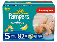 Pampers Active Baby 5 Junior - 82 szt.