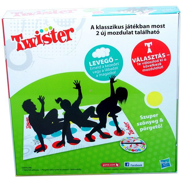 HASBRO Twister Társasjáték két új mozdulattal