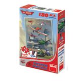 DINO Puzzle Planes + klej 180 szt