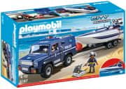 Playmobil policijski avto z motornim čolnom 5187