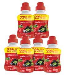 Sodastream Sirup Red Berry velký sada 6 x 750 ml
