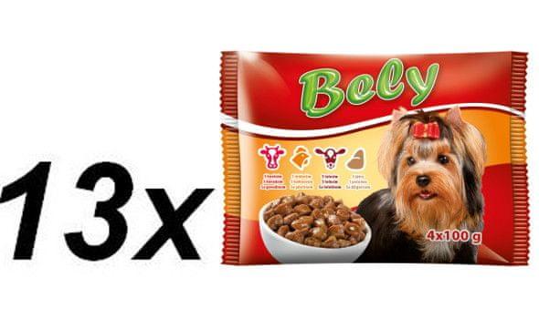 Akinu Bely kapsičky pro psy ve šťávě MIX 13 x ( 4