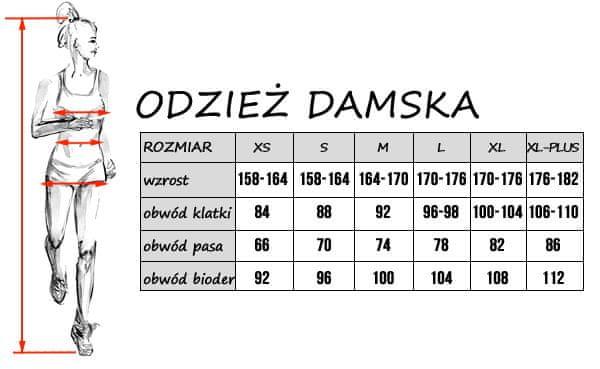 Tabela rozmiarów damskich 4F