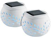 Ceramic Blade Solární dekorativní osvětlení s barevnou změnou LED, sada 2 ks