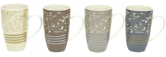 Maxwell & Williams Hrnek Rococo 350 ml Mugs - set 4 hrnků